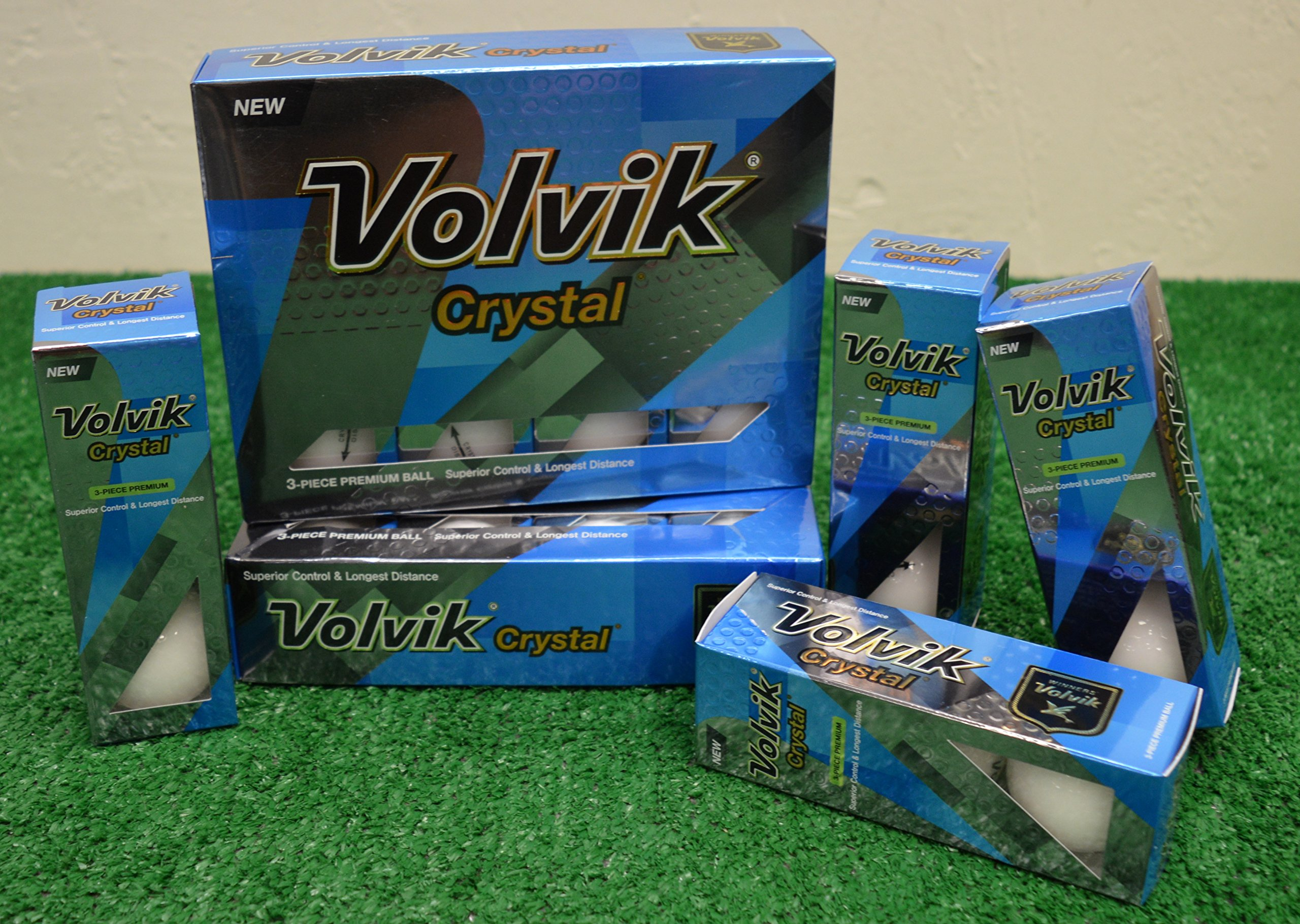 3 Dozen Volvik Crystal White Golf Balls - New in Box