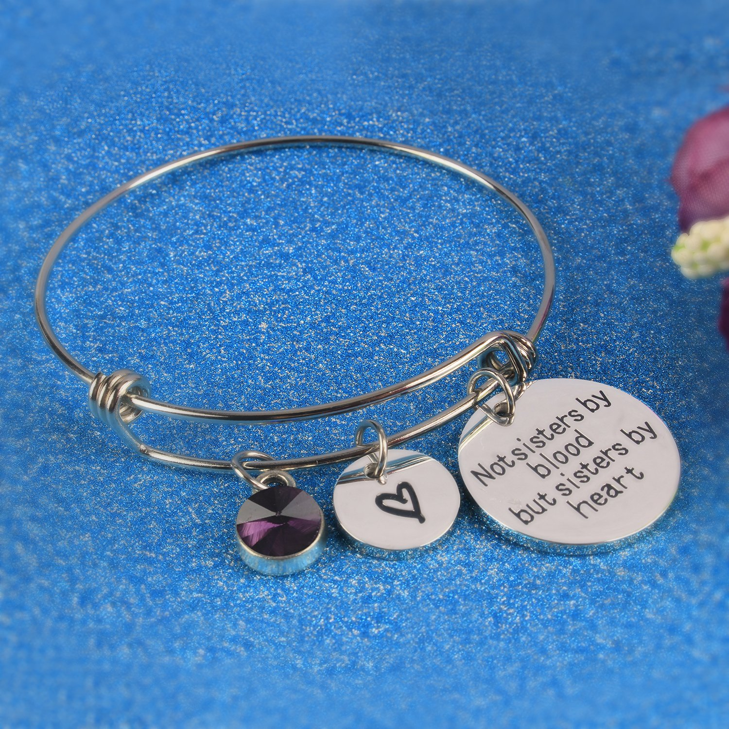 Angels Draw Home Best Friends Bracelet Not Sisters by Blood But Sisters by Heart Charm Bracelet Graduation Gift,Sister Friend Jewelry