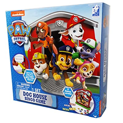 Paw Patrol Dog House Bingo Fisher Price Game: Toys & Games