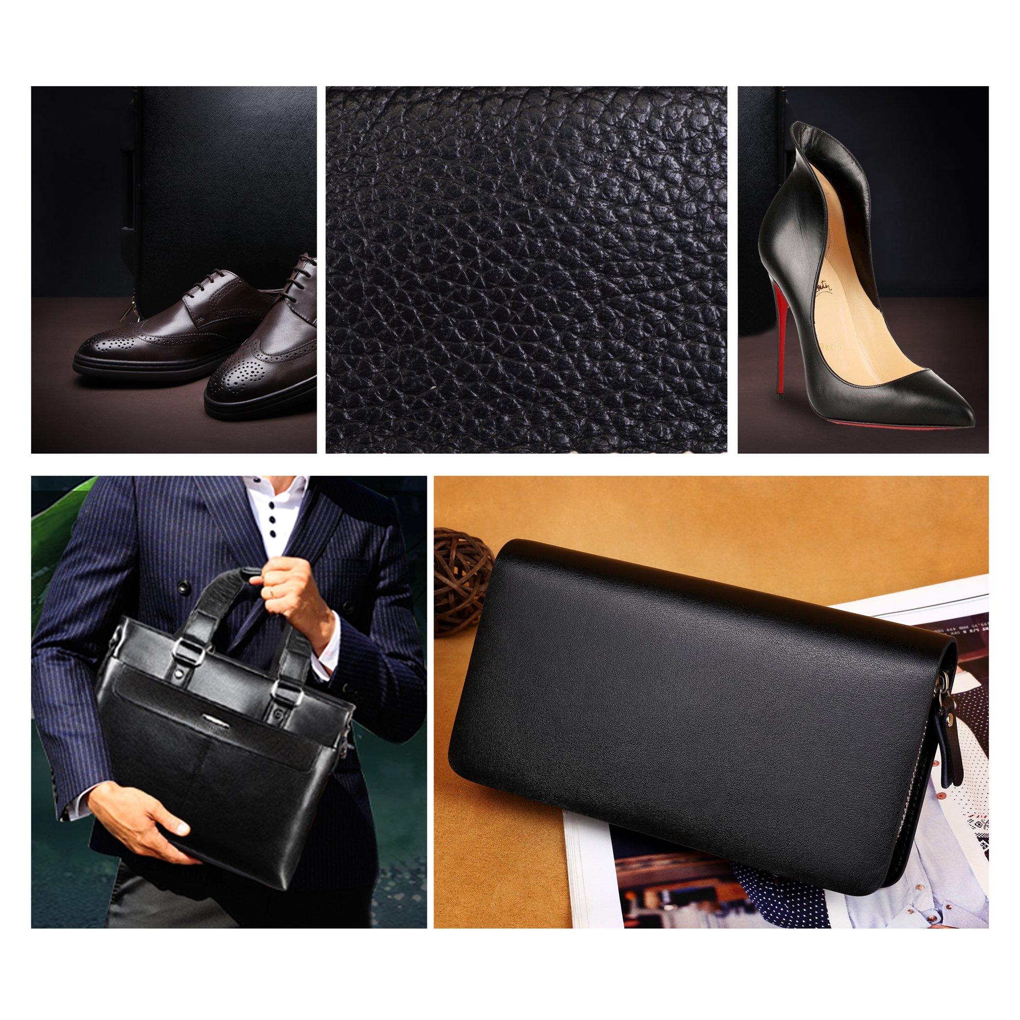 chuanyuekeji Shoe Shine Kit & Shoe Care Valet with PU Leather Sleek Elegant Case, 7-Piece Travel Shoe Shine Brush kit (Black) by chuanyuekeji (Image #5)
