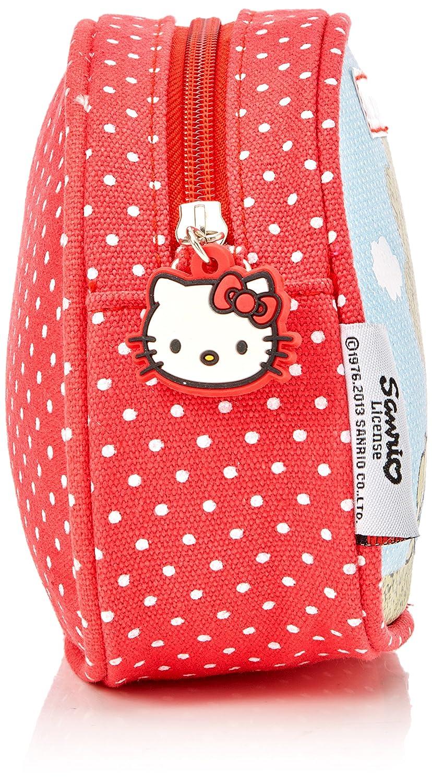 sangle et motif Rouge Hello Kitty Sanrio Sac /à main avec bandouli/ère r/églable