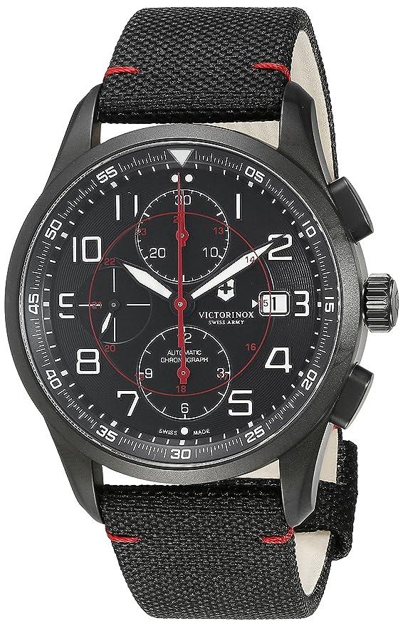 Amazon.com: Victorinox Mens 241721 AirBoss Analog Display Swiss Automatic Black Watch: Victorinox Swiss Army: Watches