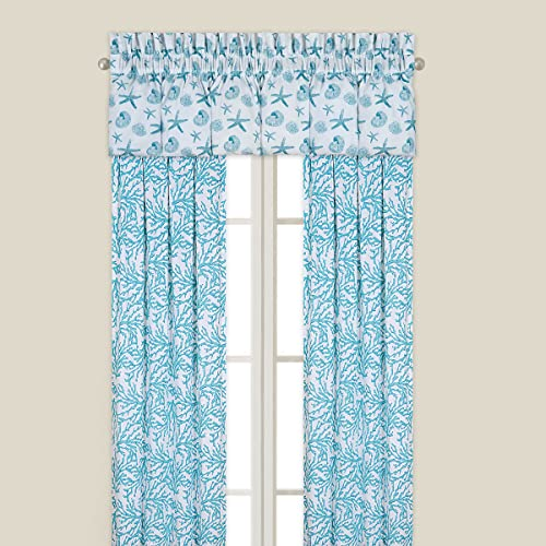 C F Home Cora Blue Drapery Panel – Coastal Theme