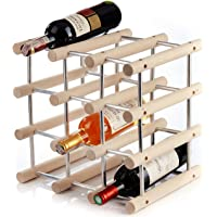 Wooden Free Standing Countertop Wine Rack for 12 Bottles - Modular Expandable Customize As Needed - Practical for Kitchen Or Home Bar