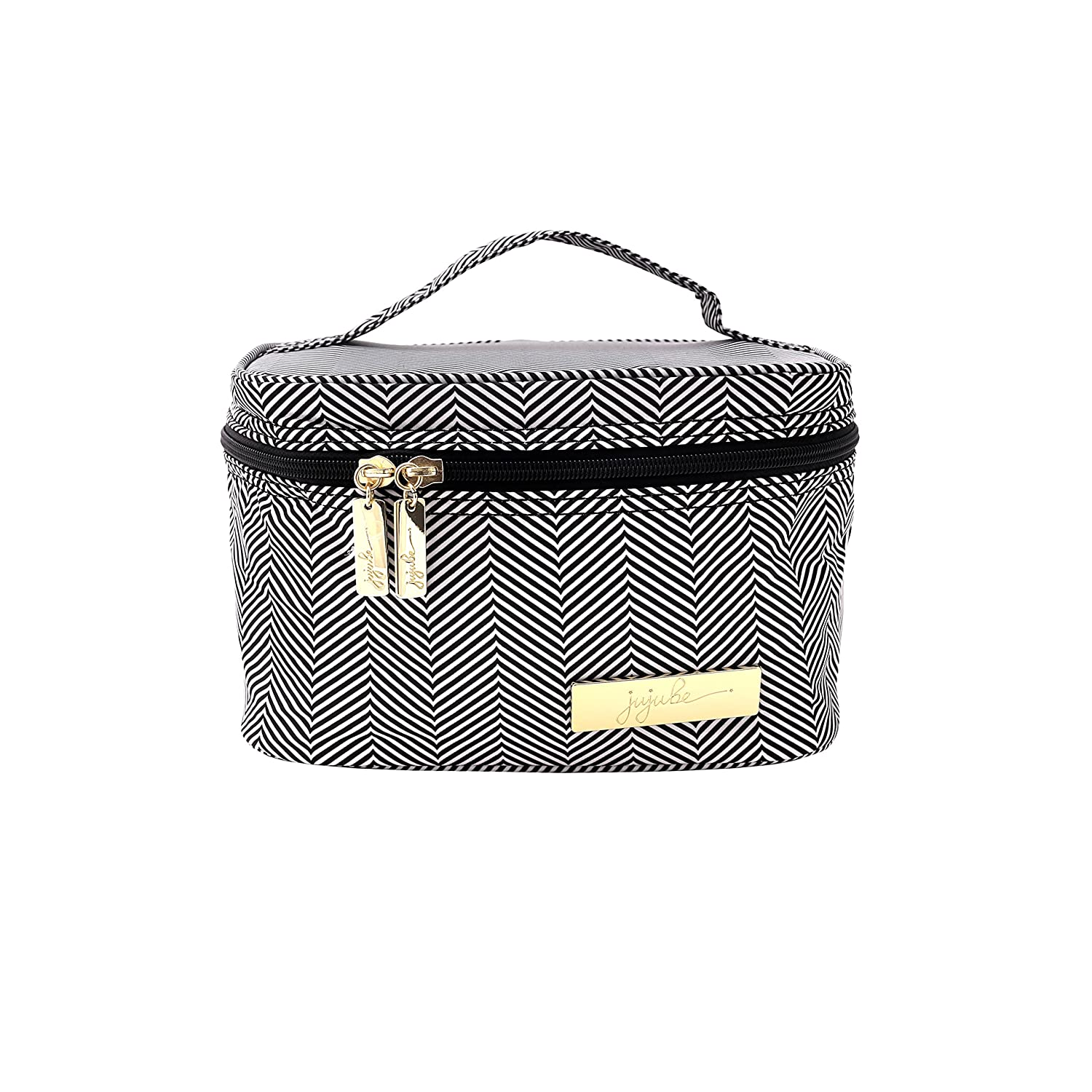JuJuBe Travel Make-Up Cosmetic Bag Legacy Collection, Be Ready The Queen of The Nile – Black White Chevron