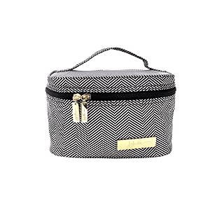 JuJuBe Travel Make-Up + Cosmetic Bag | Legacy Collection, Be Ready | The Queen of The Nile - Black + White Chevron