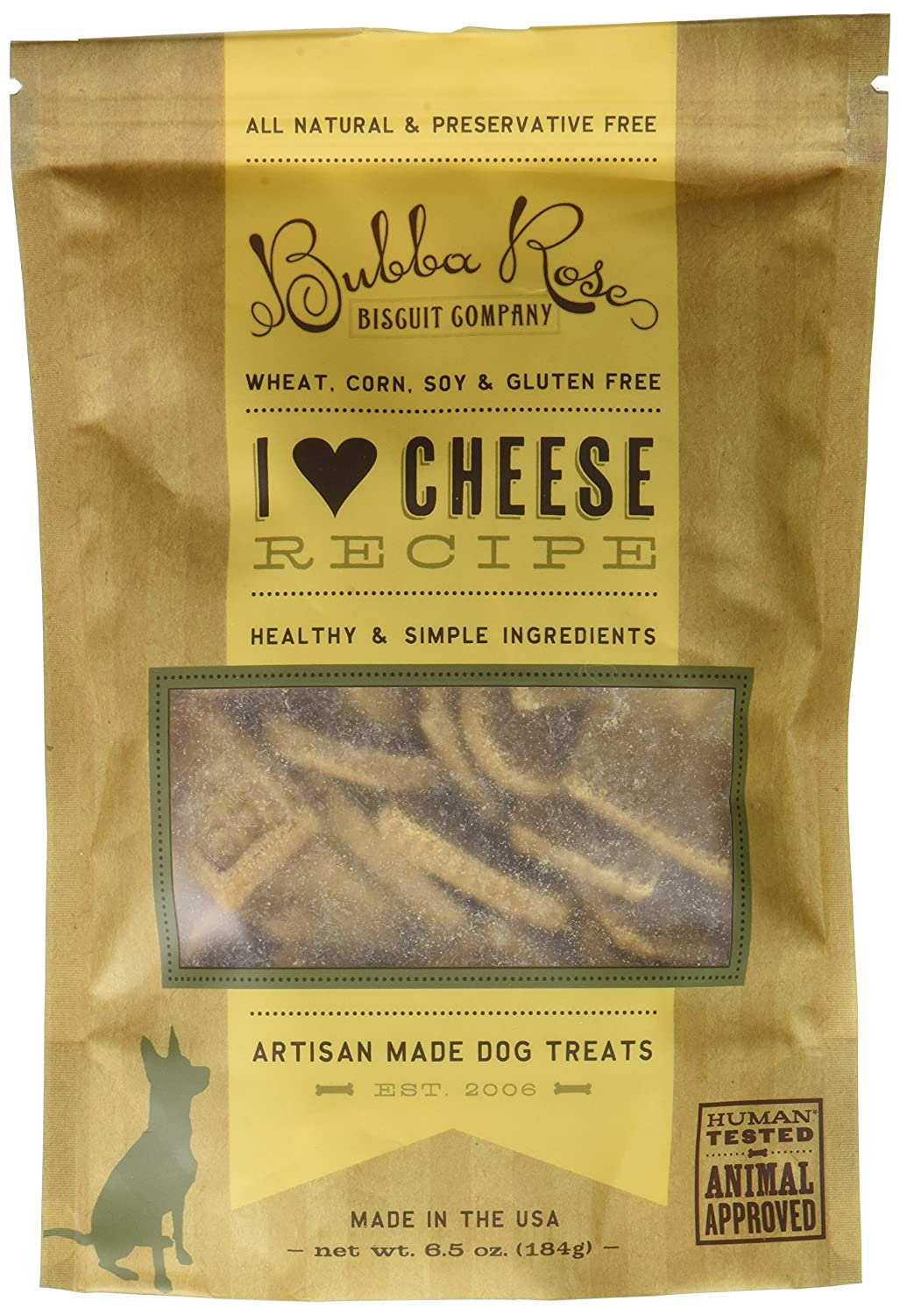 Bubba pink Biscuit smchee I Heart Cheese Dog Treats, 6.5 oz