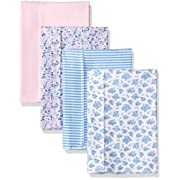 Hudson Baby Layered Flannel Burp Cloth, Prairie 4 Pack, One Size