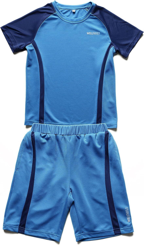 Couleurs Maillot de Football et Short de Football WEISHILI Ensemble Sport//Football Enfant Bleu, Bleu gu/ède, Rose