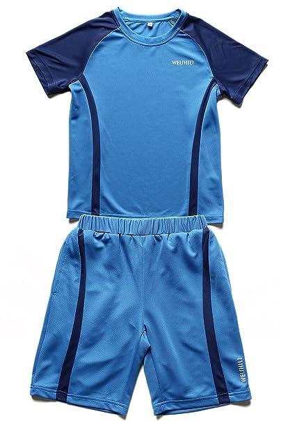 WEISHILI Conjunto Deporte/fútbol niño: Short de Fútbol y Camiseta de fútbol. Colores (Azul, Azul guède, Rosa): Amazon.es: Ropa y accesorios