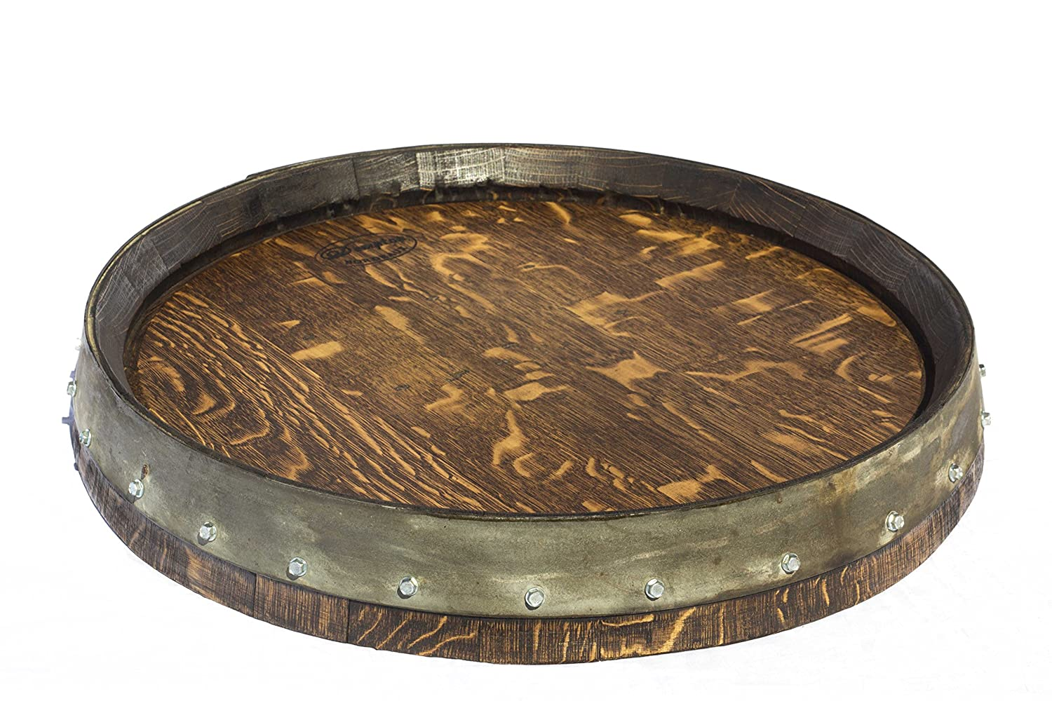 Amazoncom Barrel Head Lazy Susan Featuring Galvanized Steel