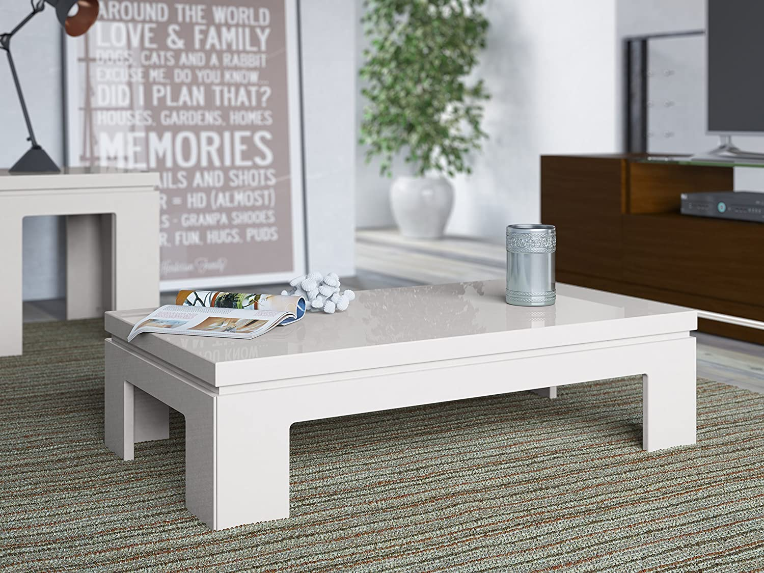 Amazon.com: Manhattan Comfort Bridge 2.0 Coffee Table Collection ...