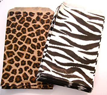 100 of 4 x 6 small paper bags 50 cheetah leopard 50 zebra - Small Animal Pictures To Print