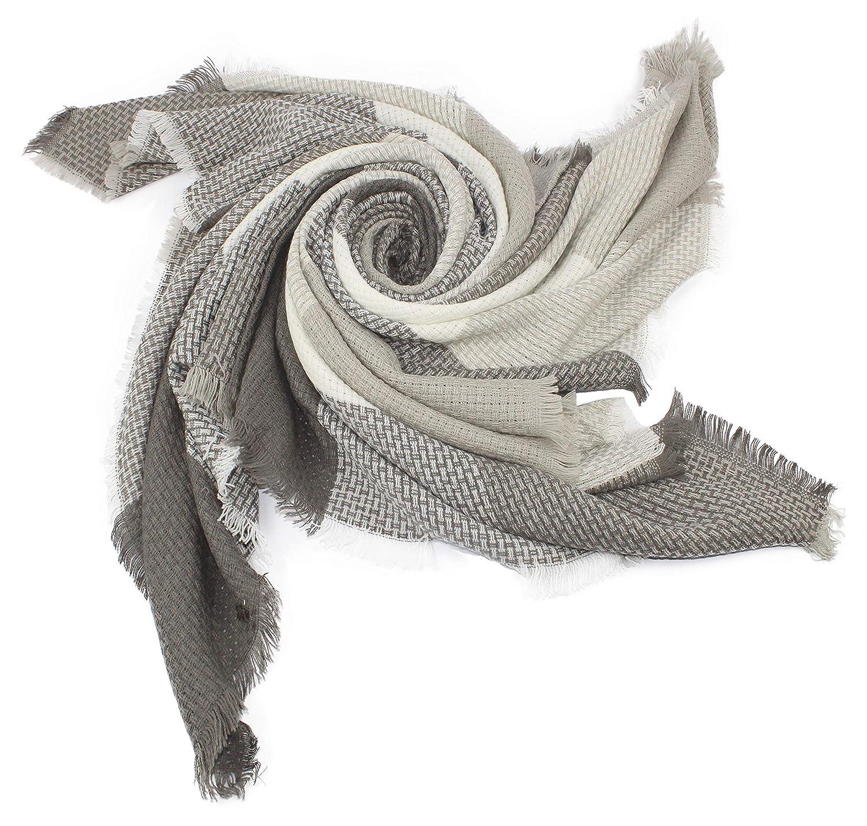 0329e91bd5b1 nativo Êcharpe Carreaux Tartan Cachemire Châle plaid Foulard Laine Hiver  femme (blanc gris claire)  Amazon.fr  Vêtements et accessoires