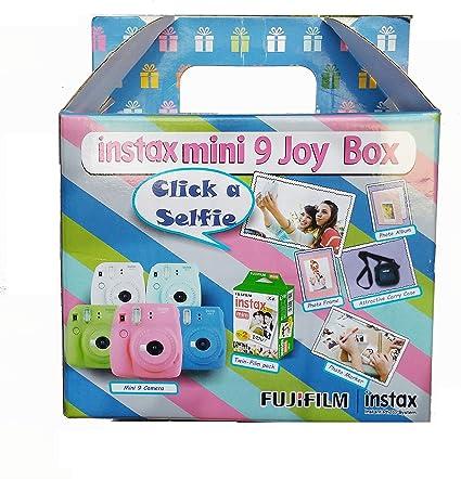 Fujifilm Instax Mini 9 Joy Box ( Ice Blue) Instant Cameras at amazon
