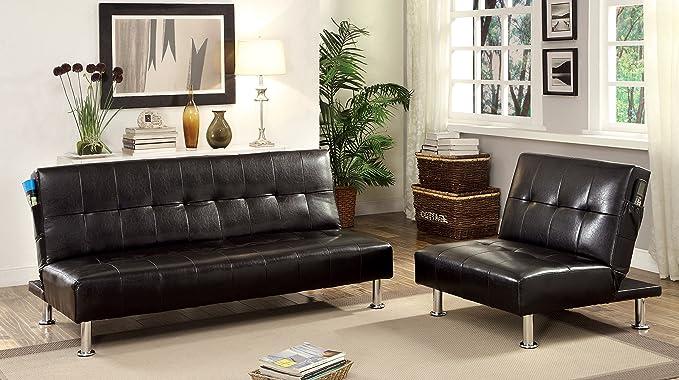 Amazon.com: Muebles de América Botánica polipiel Convertible ...