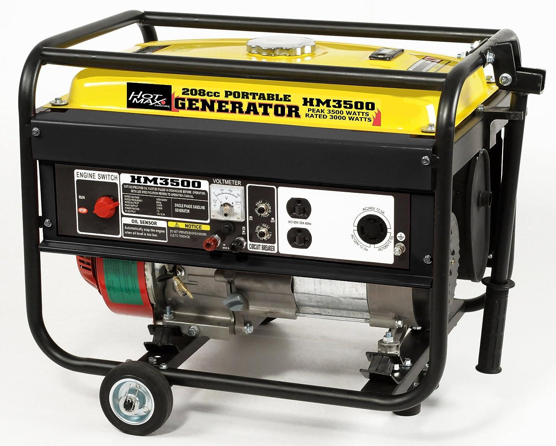 Amazon.com: Hot Max HM3500 Rated 3000-Watt 3500 Watt Portable Generator:  Home Improvement
