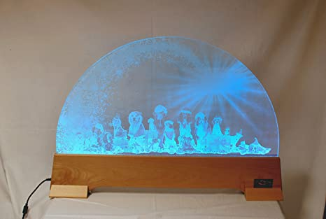 LED Schwibbogen Glas Lichterbogen Tiere 74x50,5x10 cm: Amazon.de ...