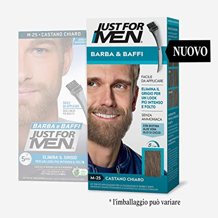 Just for Men® - Bigote y Barba M25 - Castano Chiaro