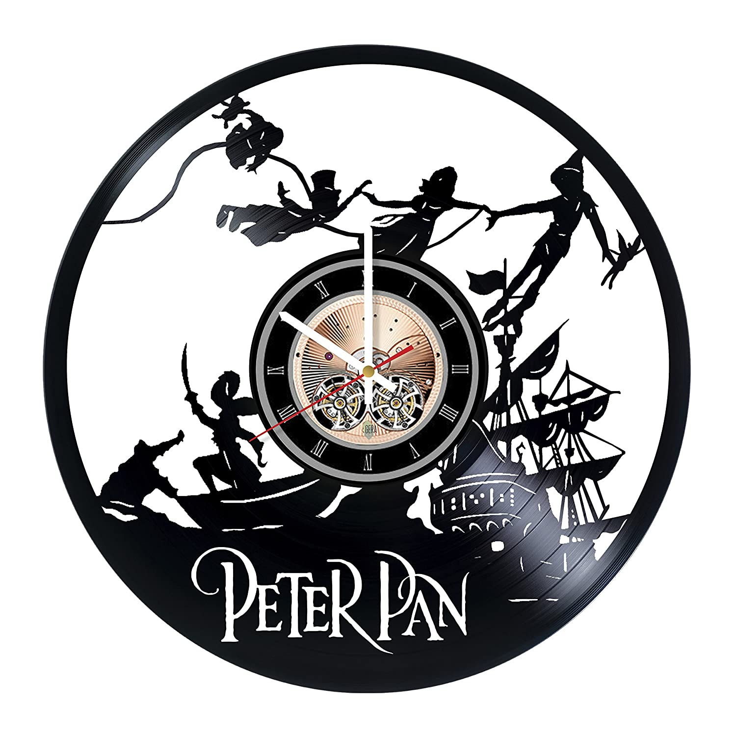 Peter Pan Vinyl Record Wall Clock - Get unique Nursery Room wall decor - Gift ideas for children, teens, baby - Cartoon Unique Art Sofa Style SS00129