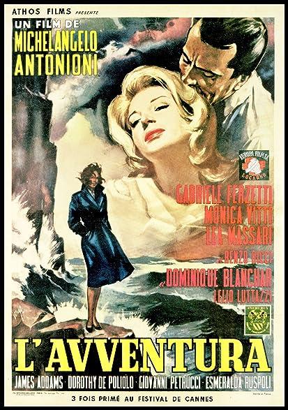 LAvventura Fridge Magnet 3.5 x 5 Monica Viti Italian Movie Poster Magnetic Canvas Print