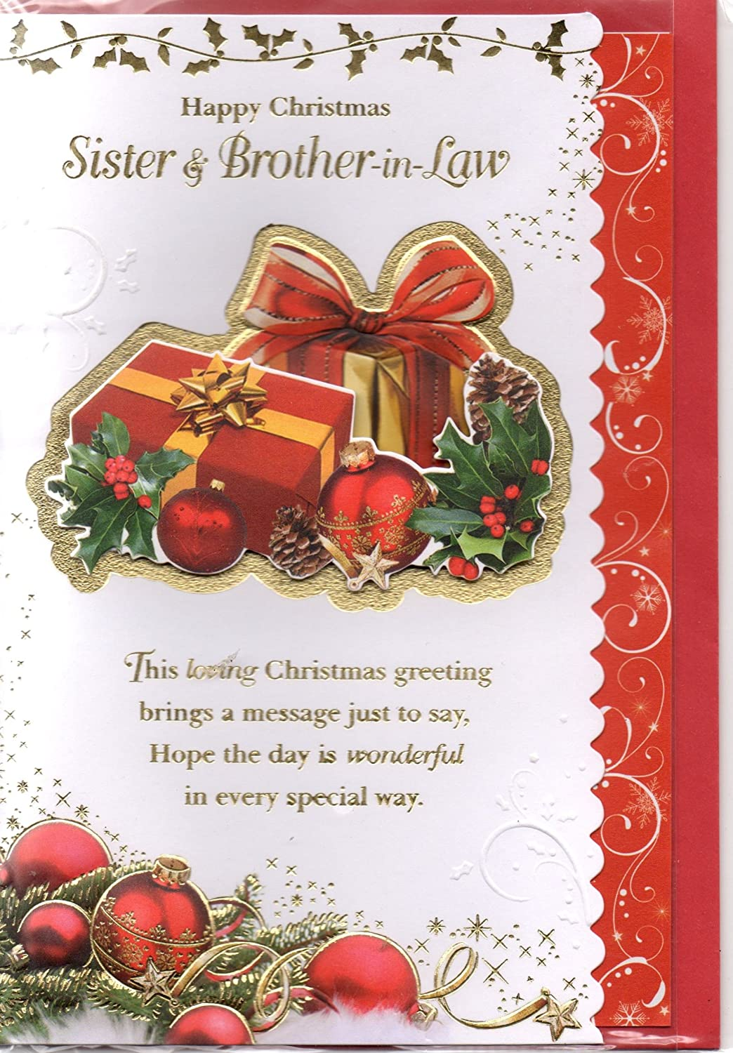 Sister And Brother In Law Christmas Card To A Dear Sister And