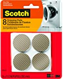 "Scotch Gripping Pads, 8 Pads/Pack, Round, Brown, 1.5"",  (SP940-NA)"