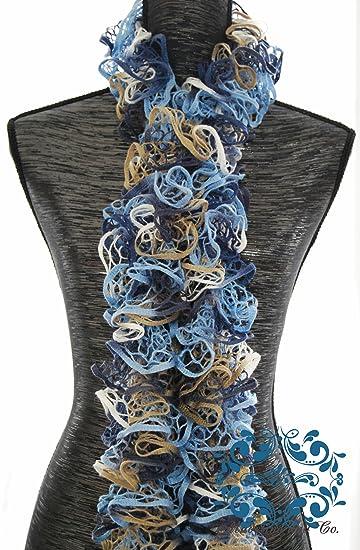Amazon Limited Timeft Hand Knit Lacy Ruffled Scarfrfect