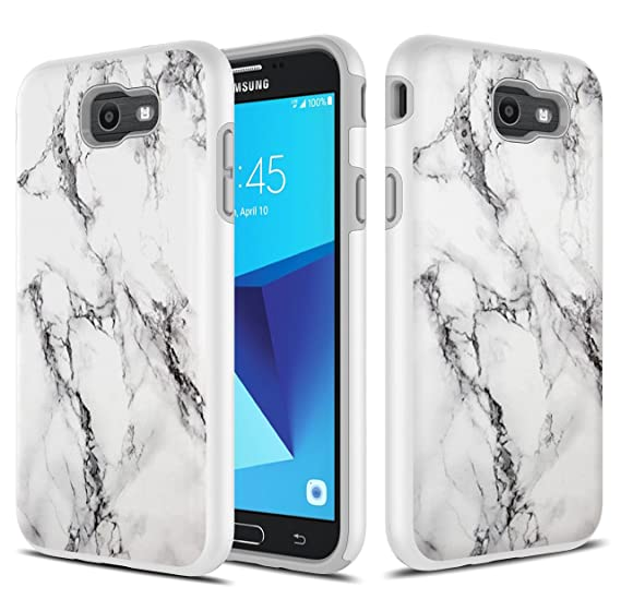 best service fab4f ccc8d Galaxy J7 V Case, Galaxy Halo / J7 Prime / J7 Perx / J7 Sky Pro Case,  TownShop Hard Rubber Impact Dual Layer Shockproof Silicone Bumper Case for  ...