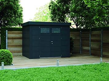 NOVO HABITAT Caseta de Jardin metálica NH6 | Antracita | 268 x 238: Amazon.es: Jardín