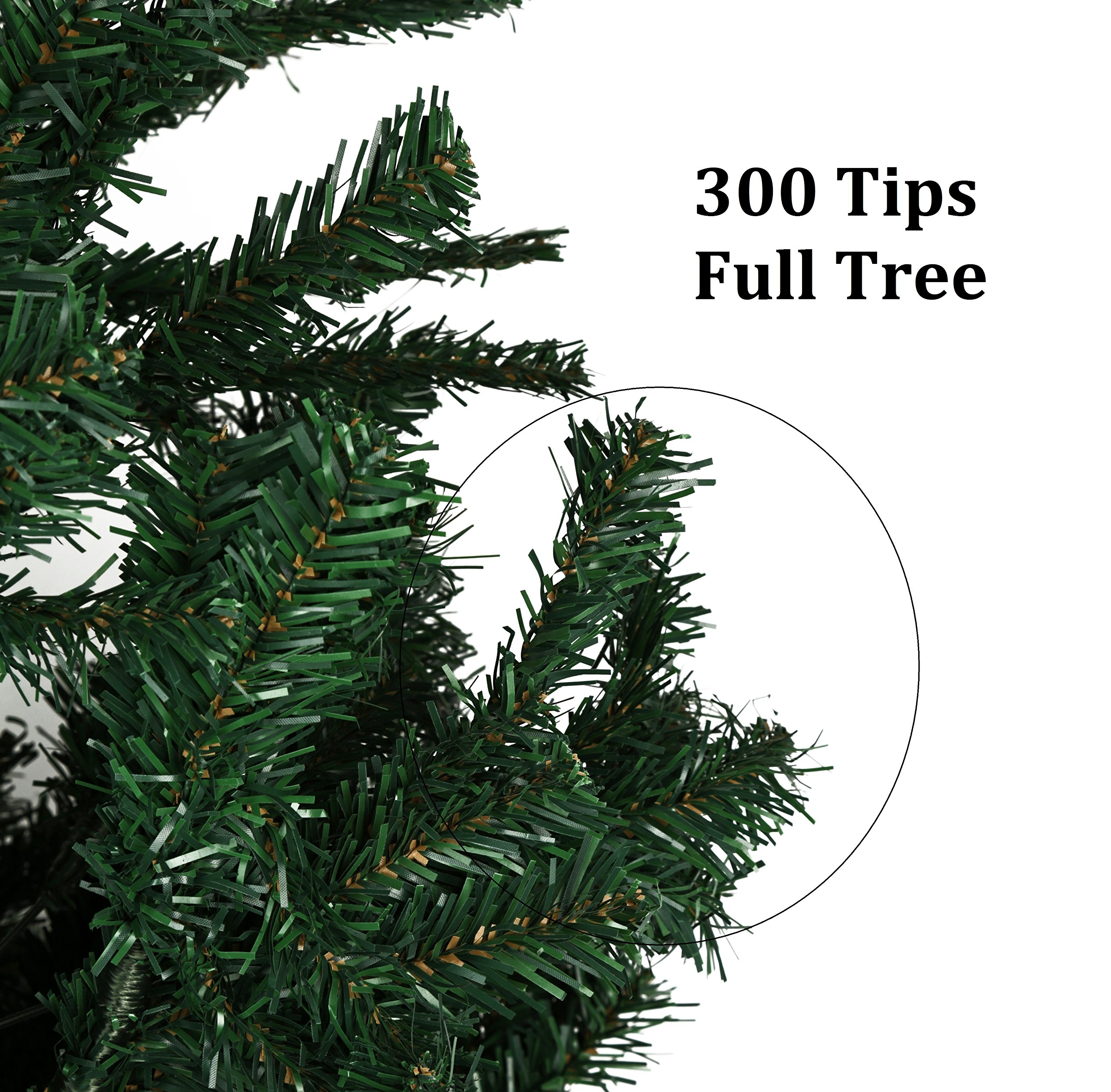 Holiday-Essence-4-Foot-Green-Artificial-Christmas-Tree-300-Tips-with-PVC-Base-Unlit