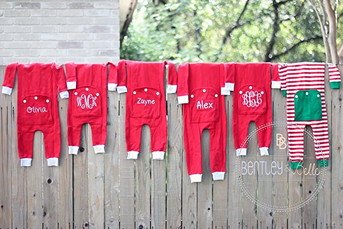 Amazon.com  Monogram Christmas Pajamas  Handmade a96f56282