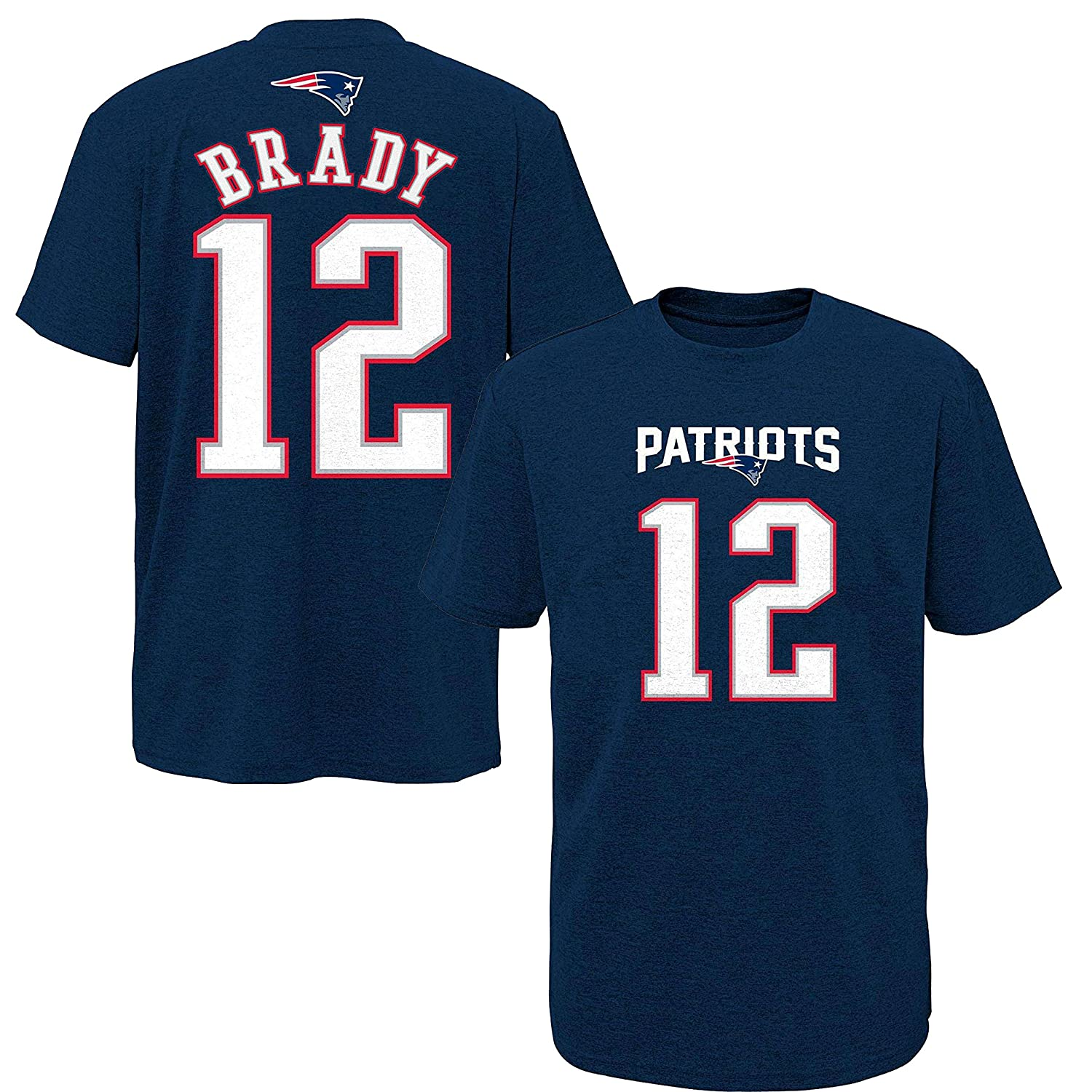 fd8a2d072 Amazon.com : NFL Youth 8-20 Performance Mainliner Team Color Player Name  and Number T-Shirt (Large 14/16, Tom Brady) : Sports & Outdoors