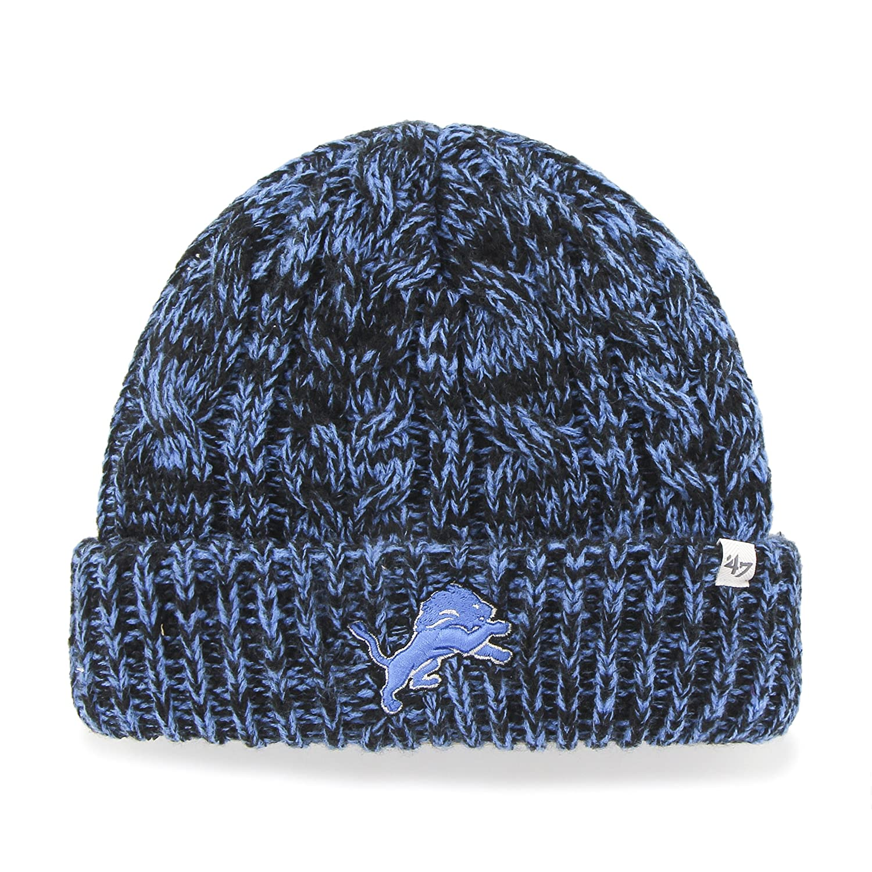 a45e42ca5a9 Amazon.com    47 NFL Detroit Lions Women s Prima Cuff Knit Beanie ...