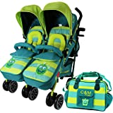 iSafe TWIN OPTIMUM Stroller - LiL Friend (Complete With Changing Bag)