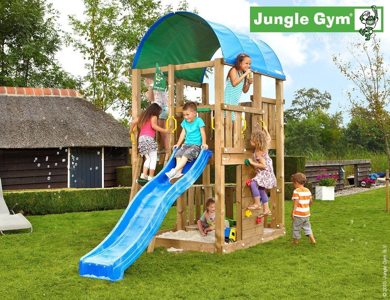 JUNGLE GYM Spielturm Jungle FARM mit Wellen-Rutsche, Gesamtmaße (B/T/H): 160/360/320 cm