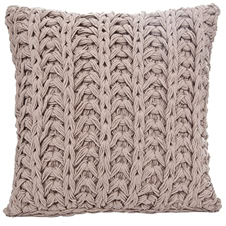 40 X 40 Cm Likt Brown Dark Beige Fashion Knit Knitted Cushion Cover