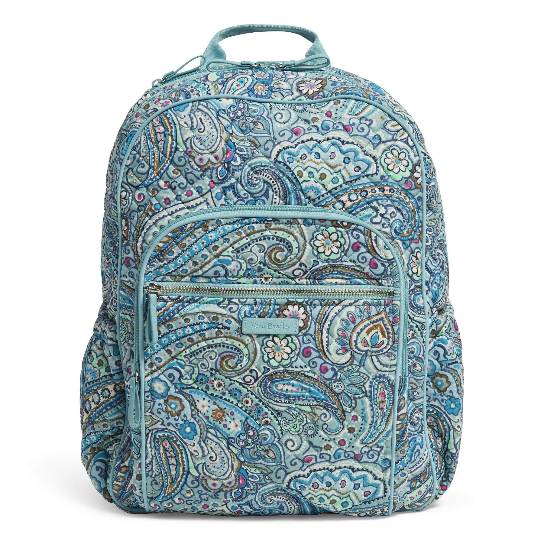 Vera Bradley Iconic Campus Backpack, Signature Cotton, Daisy Dot Paisley