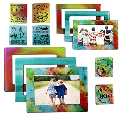 Amazon.com - Friendship Gift 12 Piece Magnetic Picture Frames and ...
