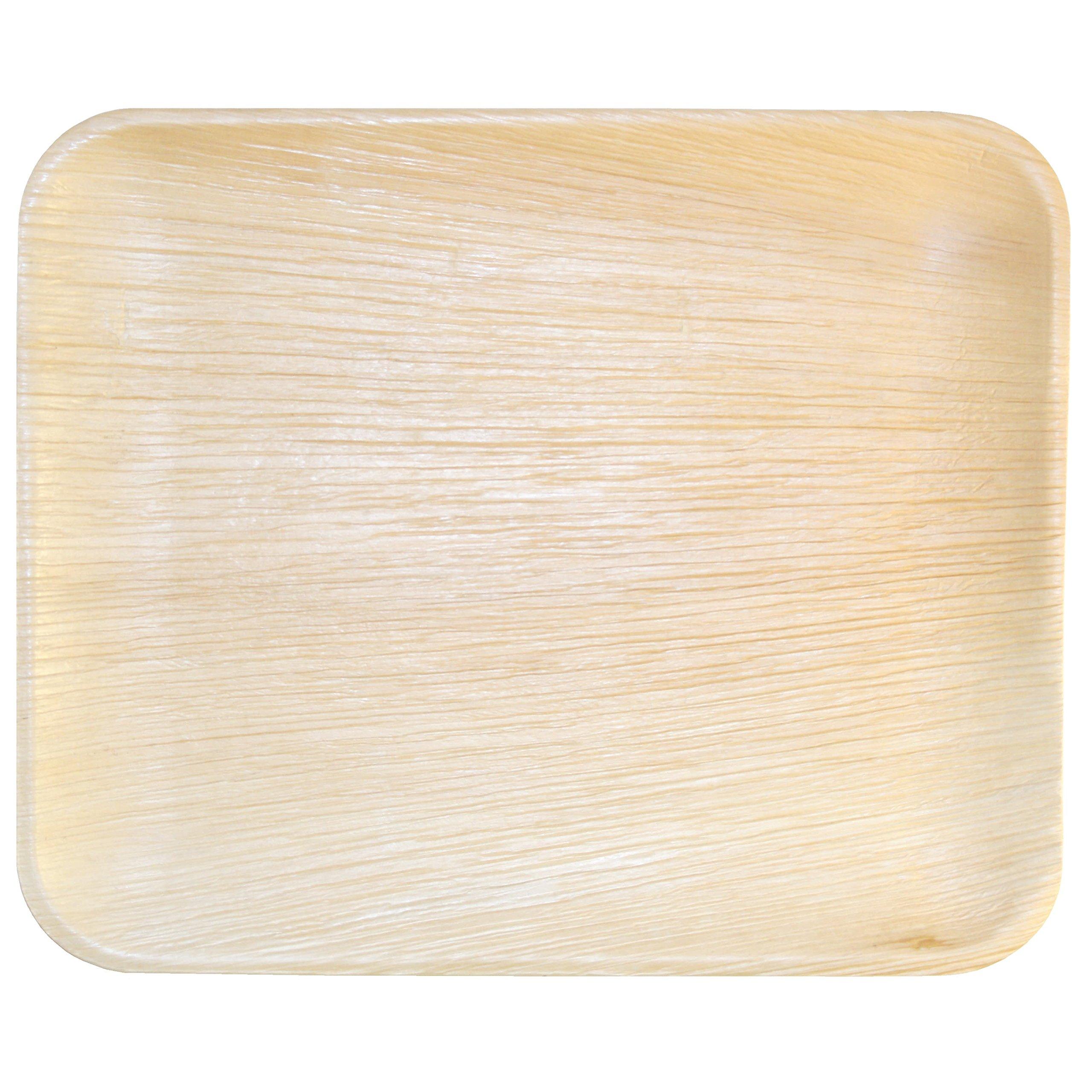 Leaf & Fiber 100 Count Elegant Fallen Palm Leaf Plate, 12.5-Inch by 10.5-Inch