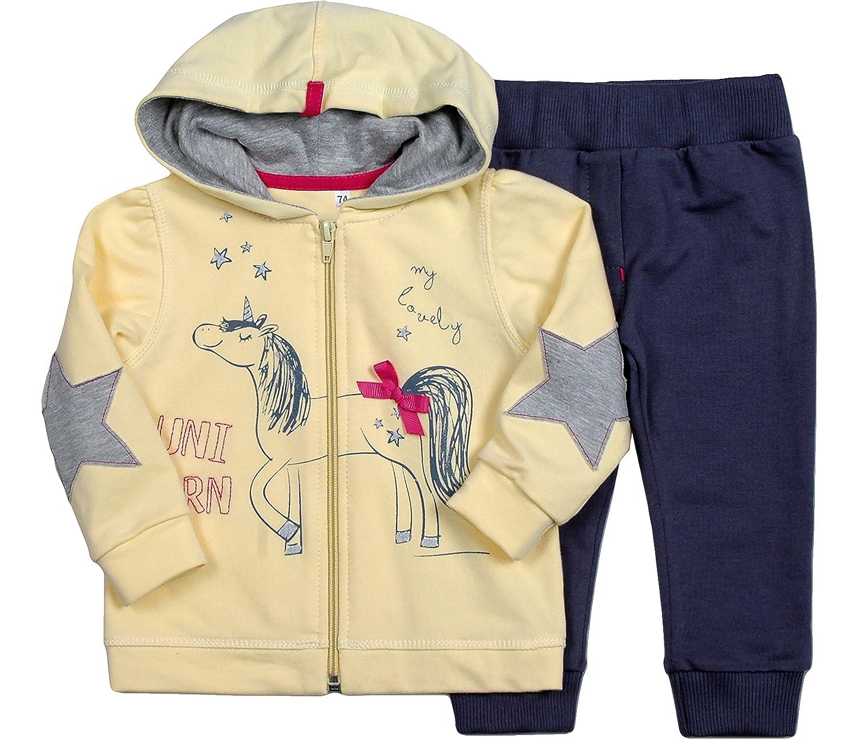 Be Mammy Conjunto Jersey y Pantalones Ropa Beb/é Ni/ña Unicorn 7302 74, Rosa//Negro