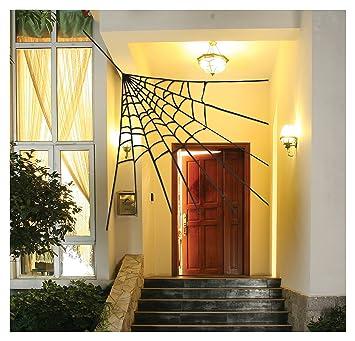 corner spider web decoration 30 - Spider Web Decoration