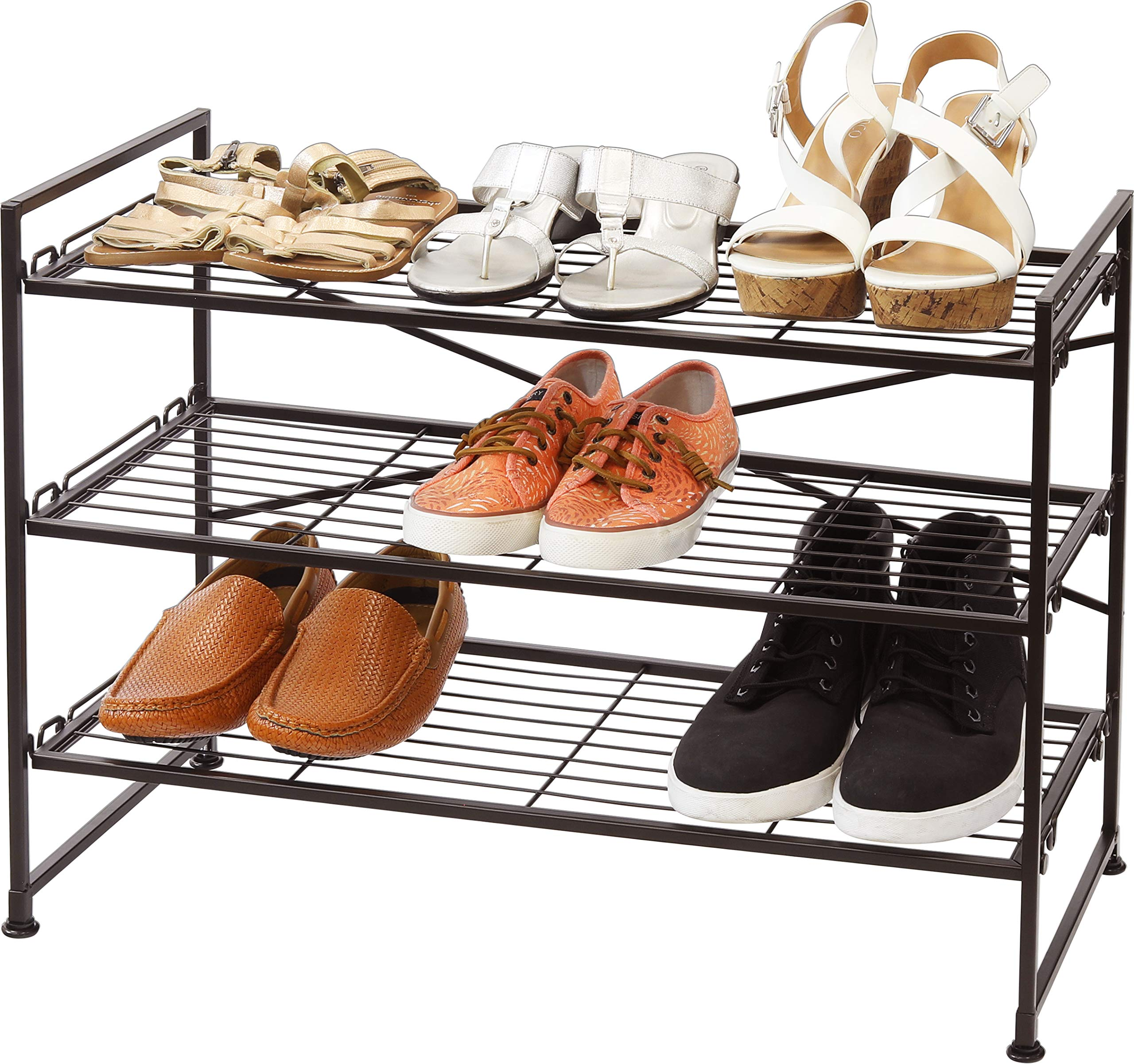 Simple Houseware Stackable Wire Grid Shoes Rack, Bronze by Simple Houseware