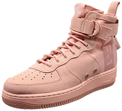 sports shoes 00592 6382d Nike Men's Sf Af1 Mid Suede Gymnastics Shoes, Pink (Coral ...