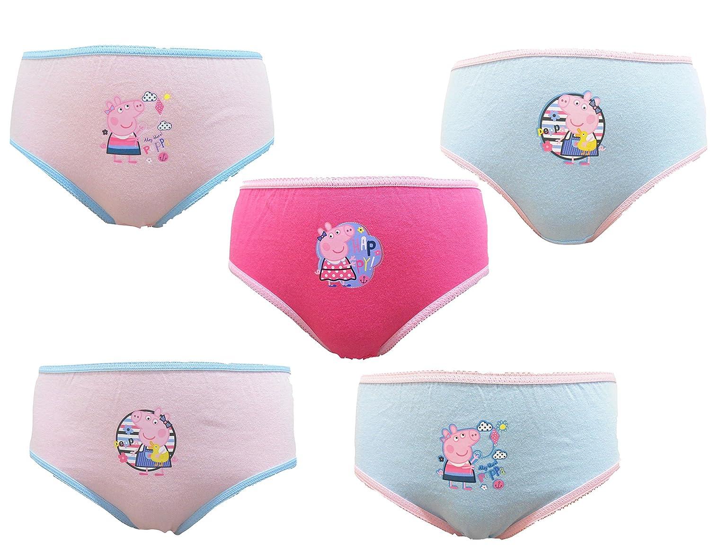 Peppa Pig Mädchen 5er Pack 100% Baumwolle Unterhose 18 Monate - 5 Jahre