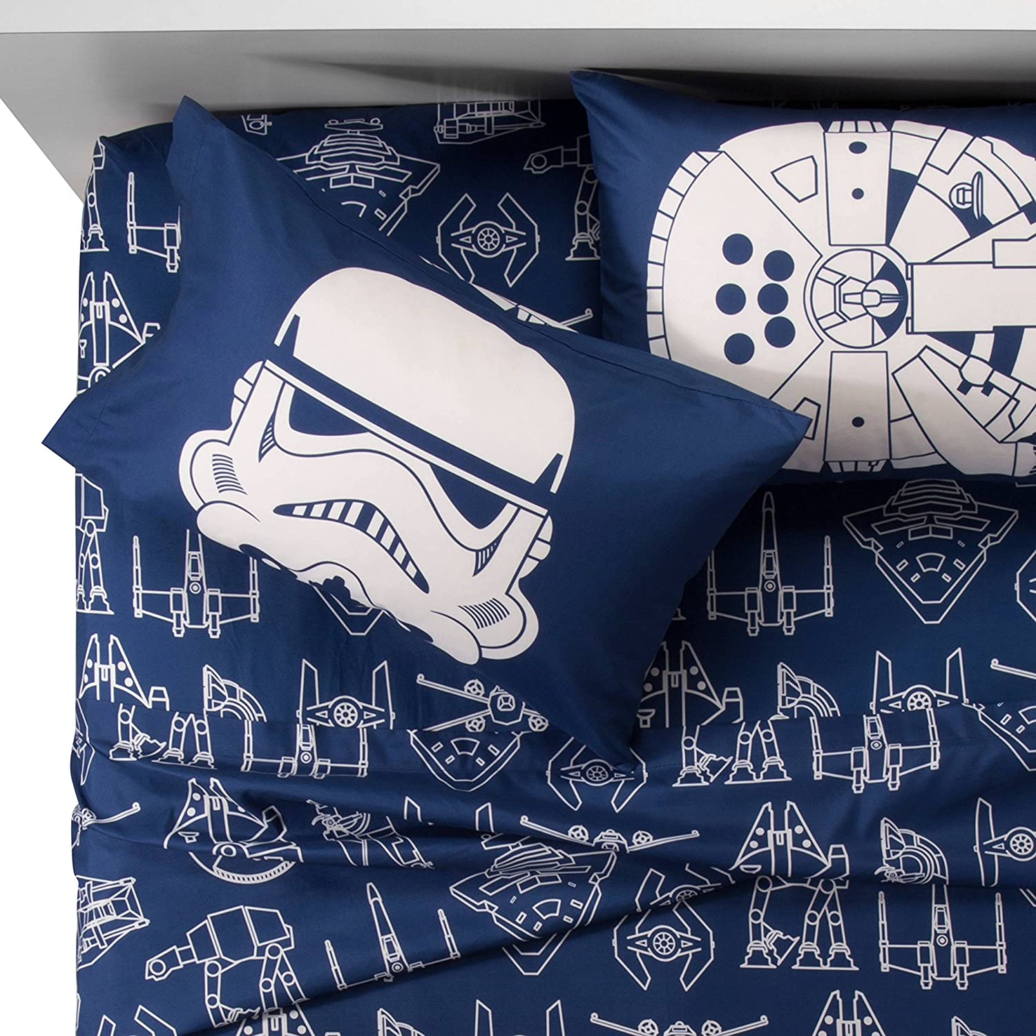 Star Wars Blue & White Icon Sheet Set (Full