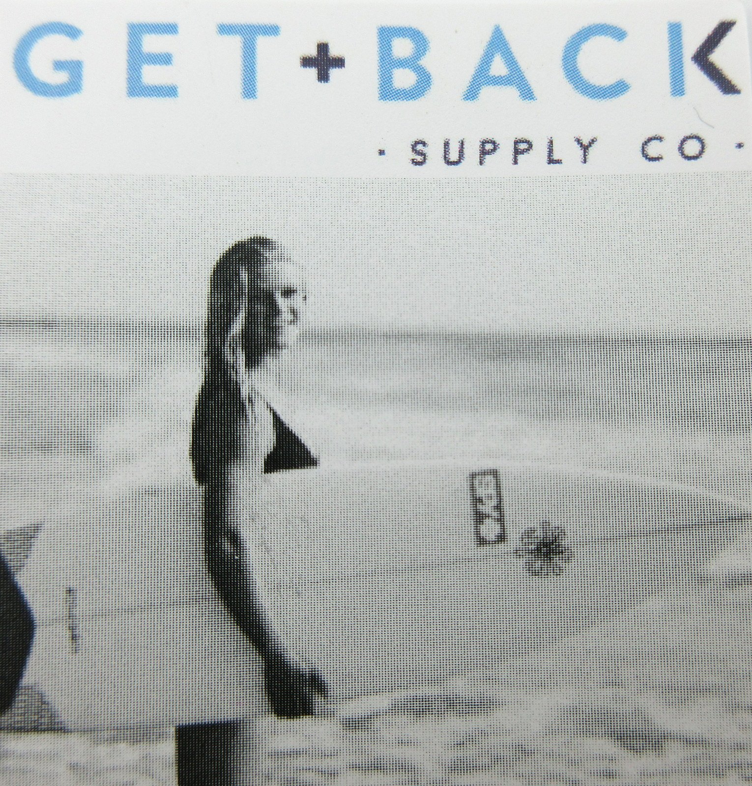 Mini St Christopher Surf Medal Pendant Necklace,Aquamarine/Black AQ/BK by Get Back Supply Co (Image #3)