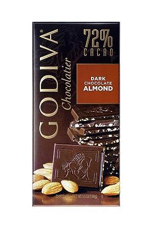 Godiva, Tableta Chocolate Negro Almendra, 100g