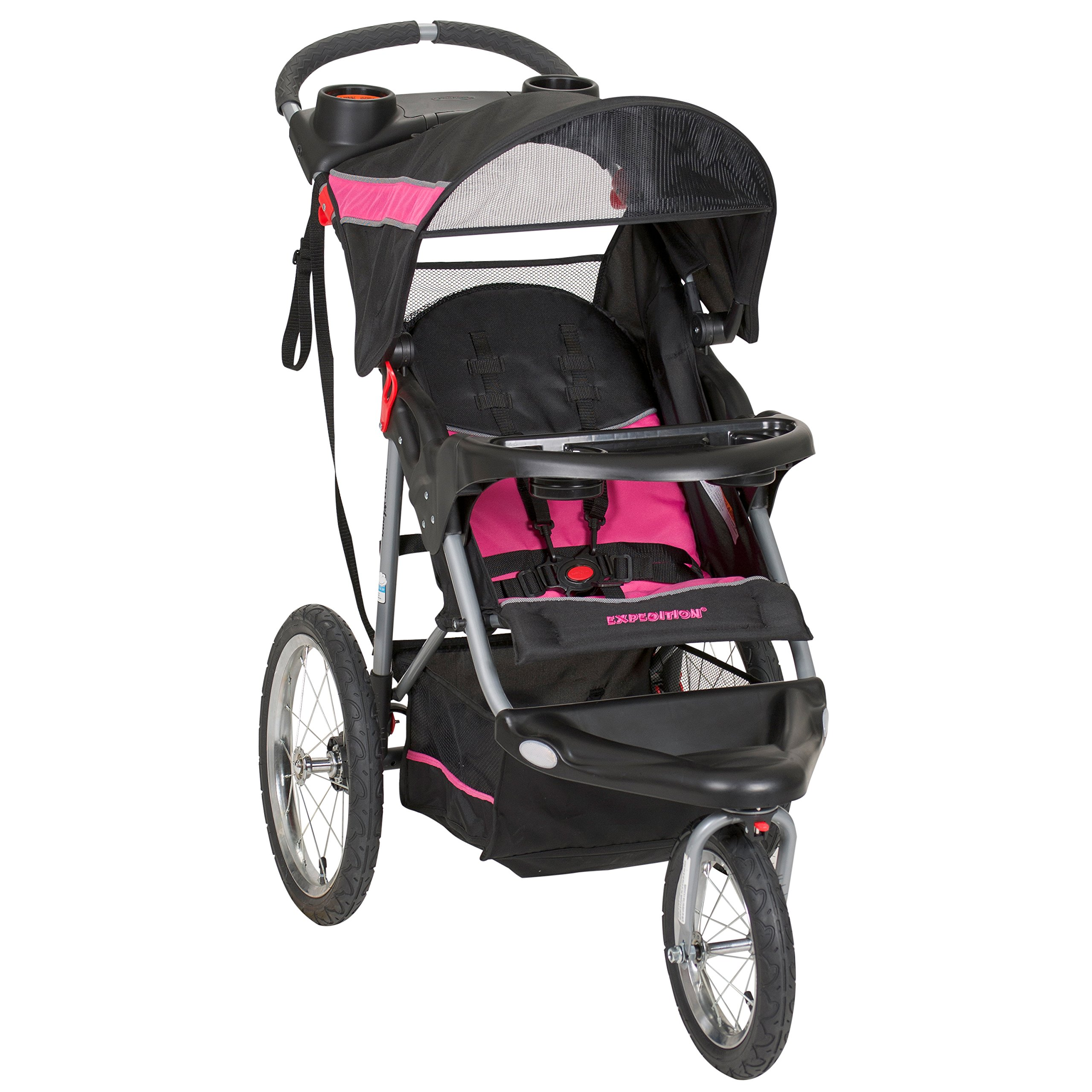 Image of the Baby Trend Expedition Jogger Stroller, Bubble Gum