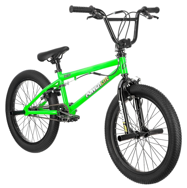 Amazon.com : Powerlite Brawler 20-Inch Freestyle Bicycle, Neon Green ...